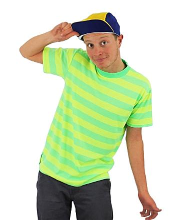 Fresh Prince of Bel Air Striped T-shirt and Cap Costume for Adults